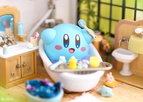 Kirby in the Bath!
