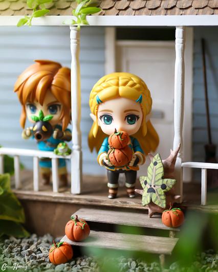 Zelda and Link Porch