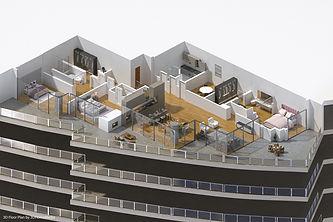 DallasPro - 3D Floor Plan - Bleu Ceil -
