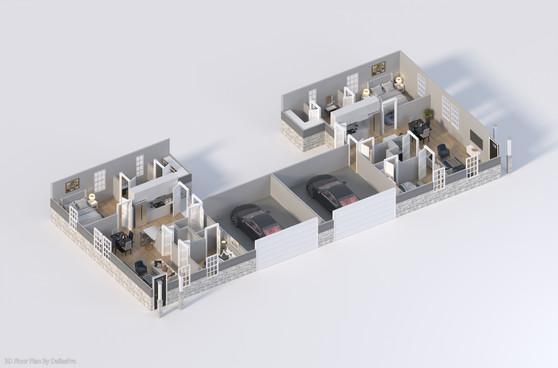 DallasPro - 3D Floor Plan - 409 Fannin A
