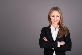 Portrait of wonderful young business wom