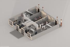 DallasPro - 3D Floor Plan - 411 Fannin A