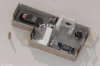 DallasPro - 3D floor Plan - 309 S Fannin
