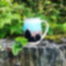 MEZ Pottery mountain mug