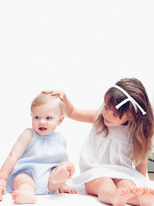 OLIVIA★ vestito bambina in seersucker di cotone
