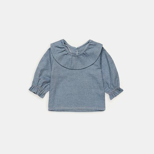 AIX-EN-PROVENCE ★ camicia in 100% cotone blue jeans