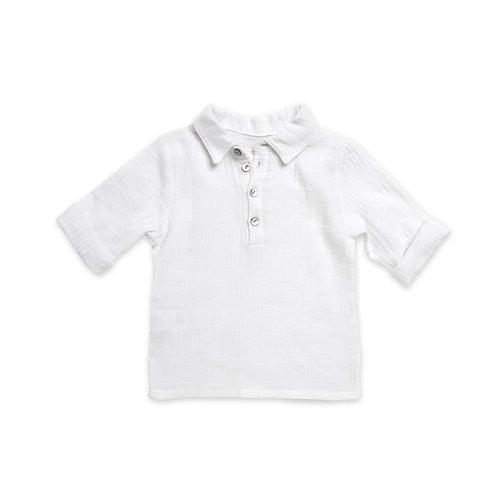 LOUIS★ camicia polo in 100% mussola di cotone ecologico