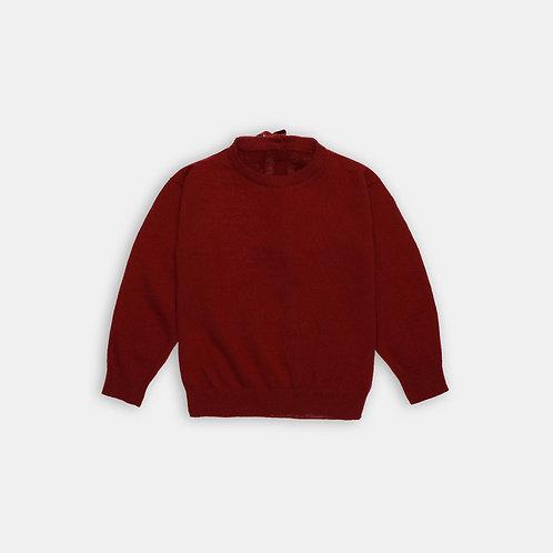 PESCARA ★ girocollo con apertura posteriore in lana merinos