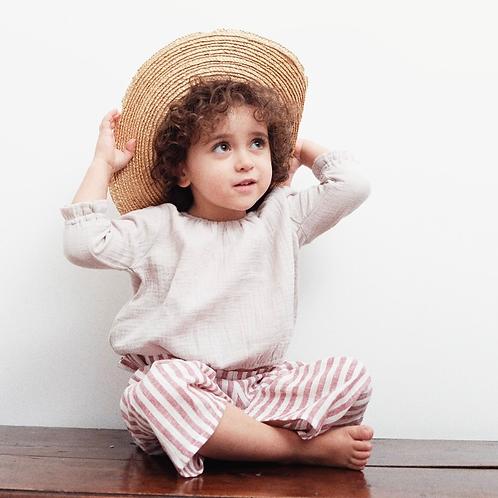 CLOE ★ camicia bambina in 100% mussola di cotone ecologico