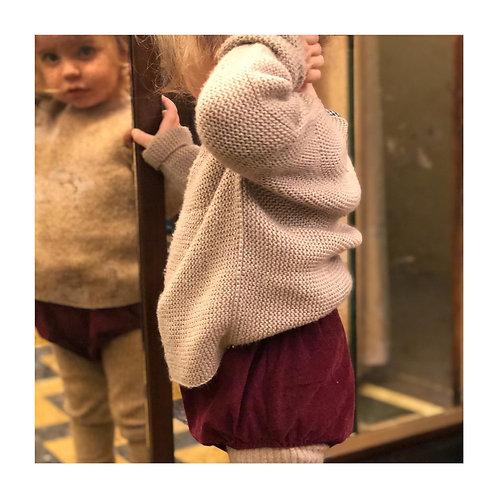 SALERNO ★ pantaloncino in 100% velluto di cotone a coste unisex