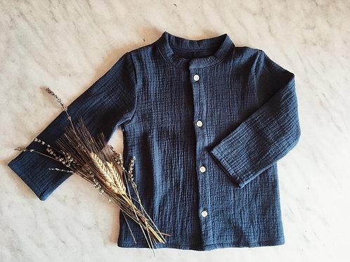 AMOS ★ camicia coreana in 100% mussola di cotone ecologico