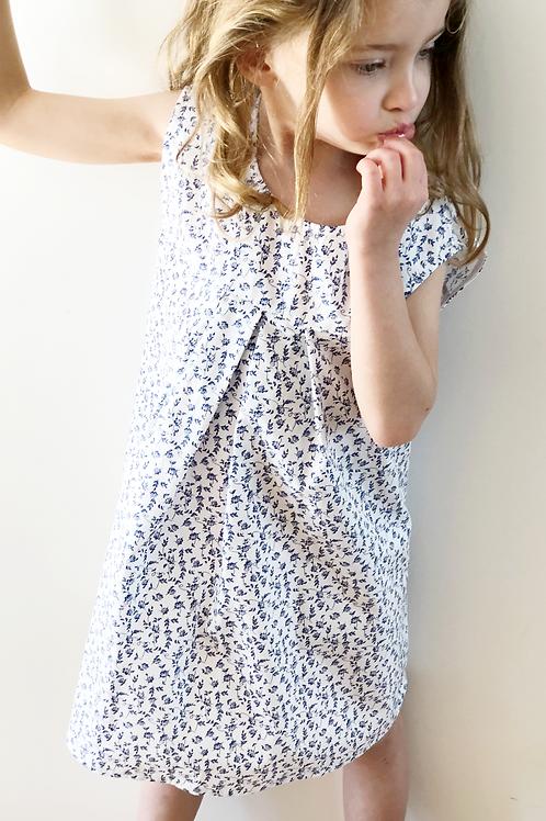 OLIVIA★ vestito bambina in cotone fantasia floreale