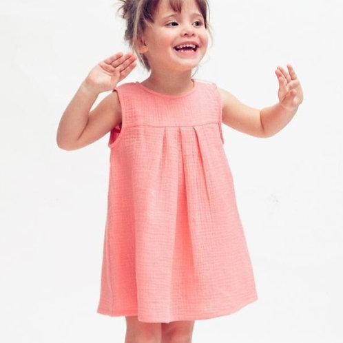 OLIVIA★ vestito bambina in mussola di cotone ecologico