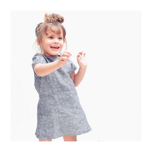 GIULIA★ vestito bambina 100% lino