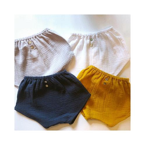 BRANDO-LUCIA ★ shorts in mussola di cotone ecologico