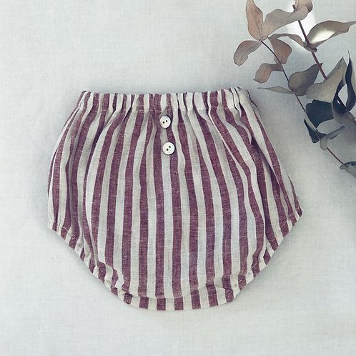 CADAQUES ★ culotte in lino rigato