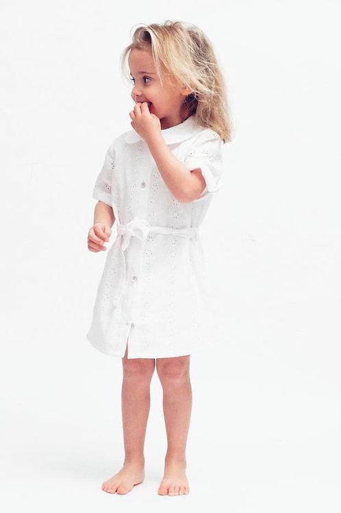 INGRID ★ vestito chemisier in cotone sangallo