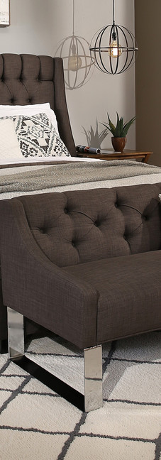 "Cambridge ""Steel-Core"" Storage Platform Bed & Sofa Bench"