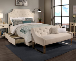 Ivory Audrey Storage & Sofa