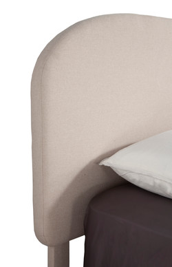 rounded flax headboard side