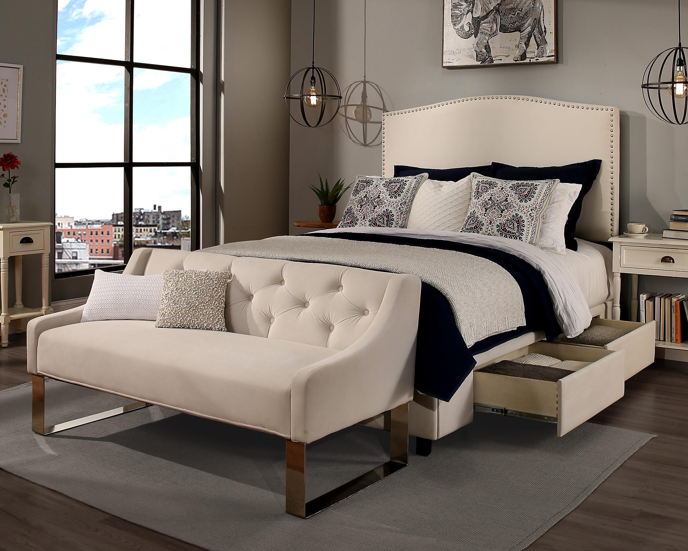 Ivory Newport Storage & sofa (30441-B-S,30442-B-S)