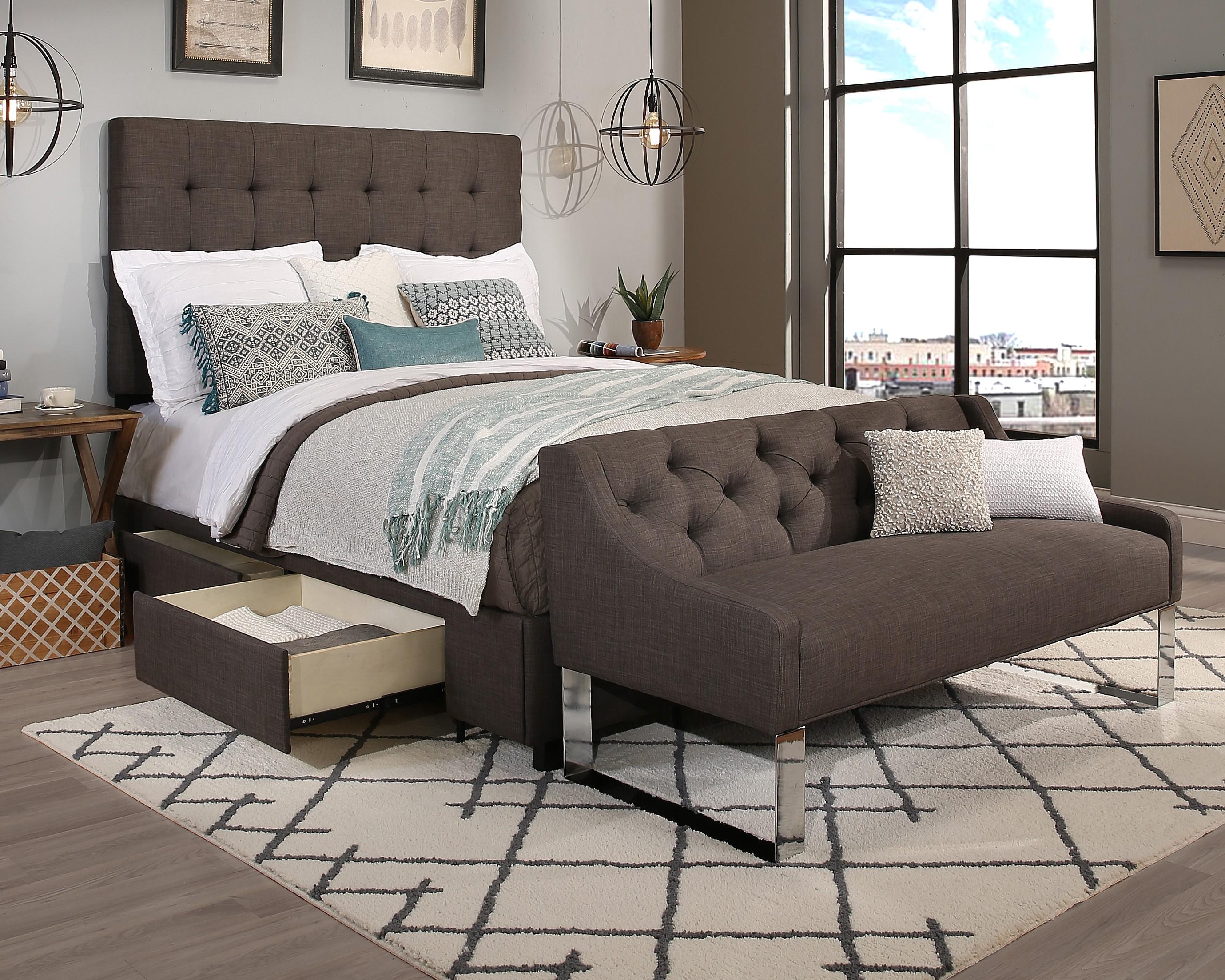 Grey Manhattan Storage & Sofa (30551-B-S,30552-B-S)