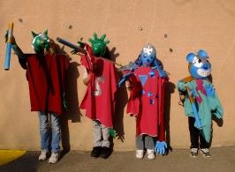 Grandes marionnettes porté