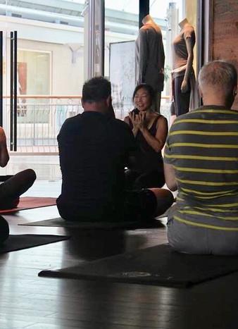 Community class taught at lululemon