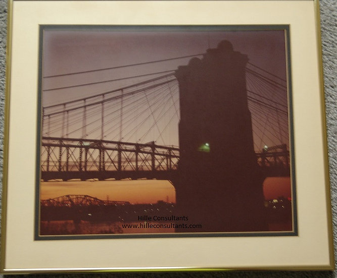 Cincinnati Suspension Bridge Sunset