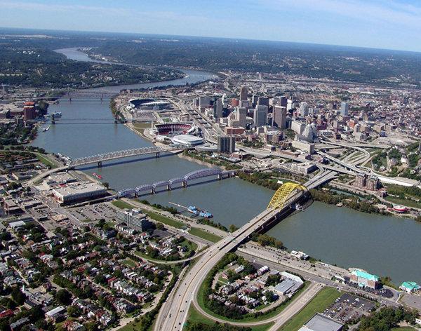 Cincinnati, Cincinnati Aerial, Cincinnati Skyline, Anthony Hille