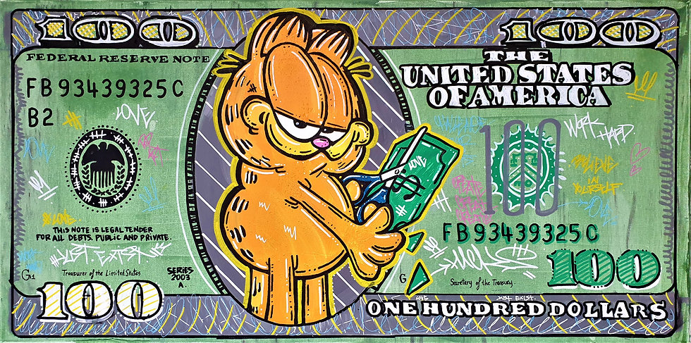 Garfield destroys Dollars