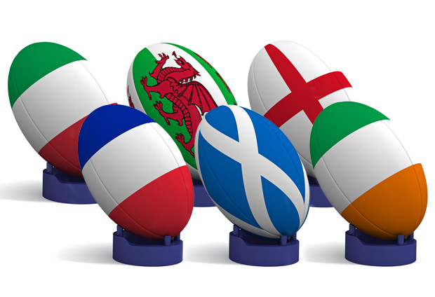 6 nations rugby ball emblems