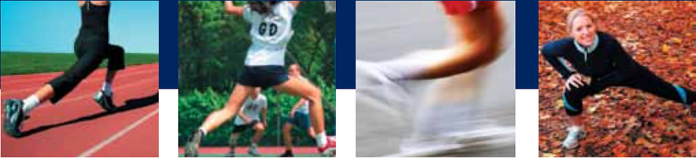 Examples of stretching muscles during activity