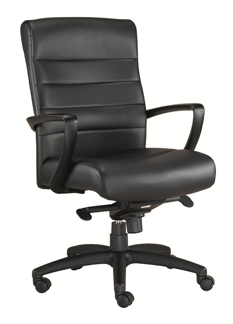 M5200 Leather Mid-Back Chair