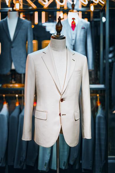Beige Suit By Vitale Barberis Canonico - VBC