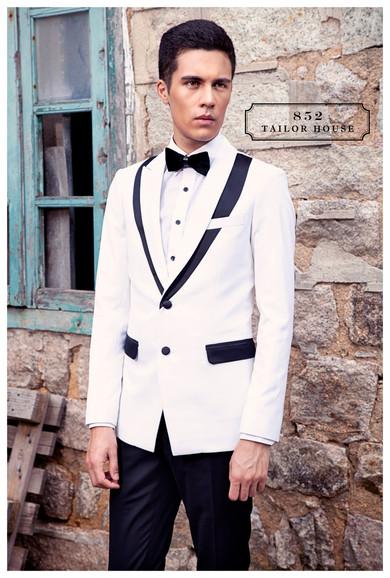 華麗系列 白色兩件套禮服