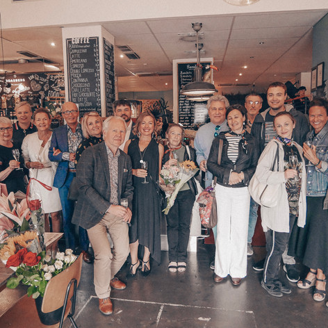 Mila iloria Art exhibition opening