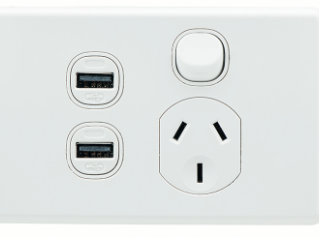 NEW ! Clipsal USB Charger Power Points