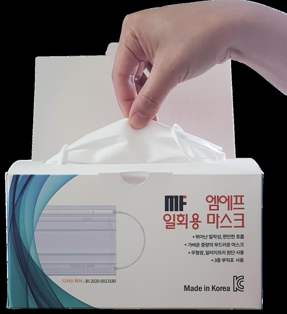 일회용 엠에프 마스크 (Made in Korea)