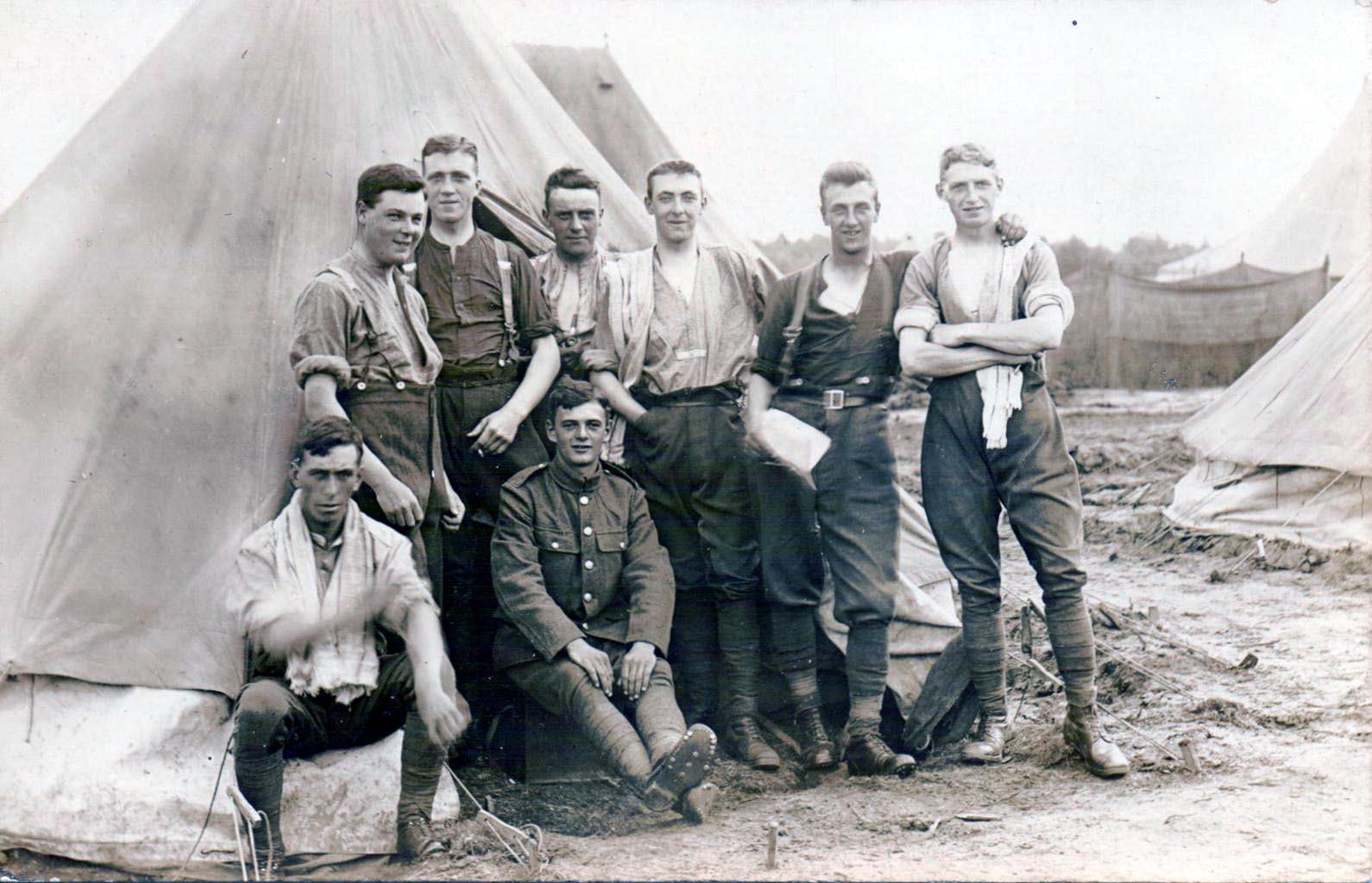 Gunner RA taken 1914 is seated in tunic