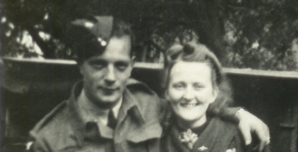 Henry and Eileen just married, June 1940