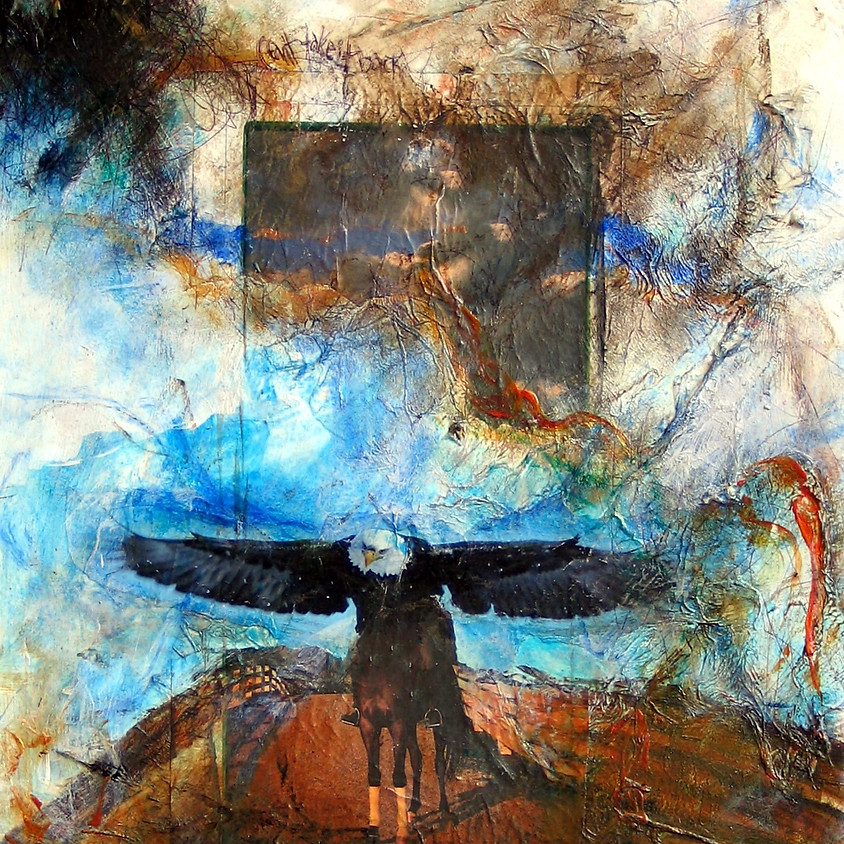 Mixed Media Painting: Surface, Collage, Photo Transfer- 2 day $ 225 plus $40 +GST supply fee (includes supplies)