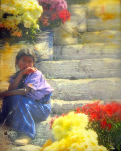 Flower Seller, Chichicastenan