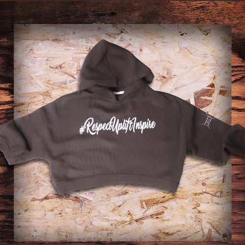 #RespectUpliftInspire Cropped Hoodie