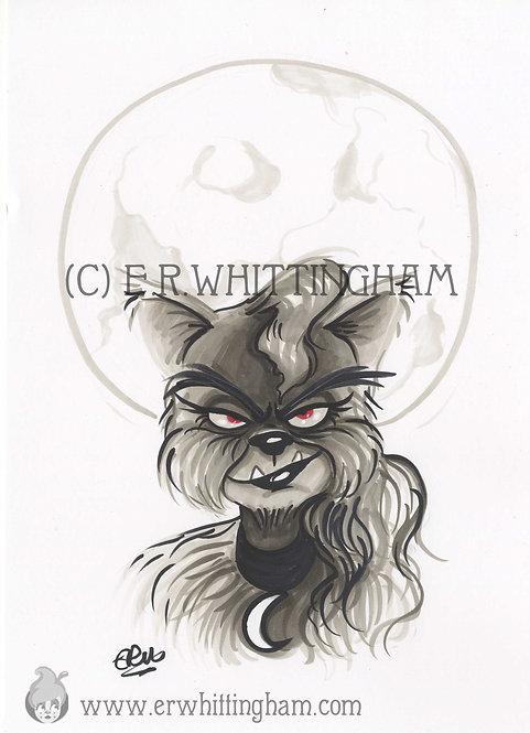 Werewolf ORIGINAL INK DRAWING