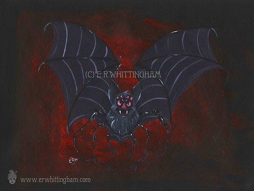 Spider Bat ART PRINT