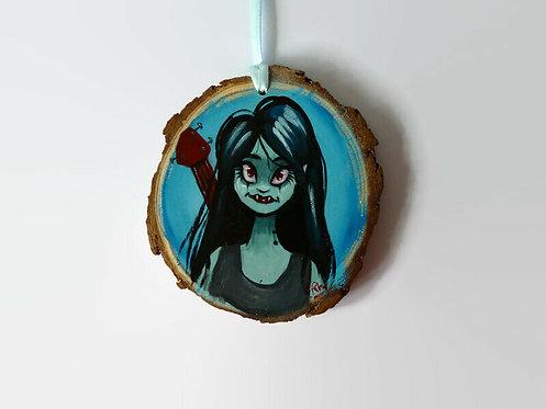 Marceline HAND PAINTED LOG SLICE