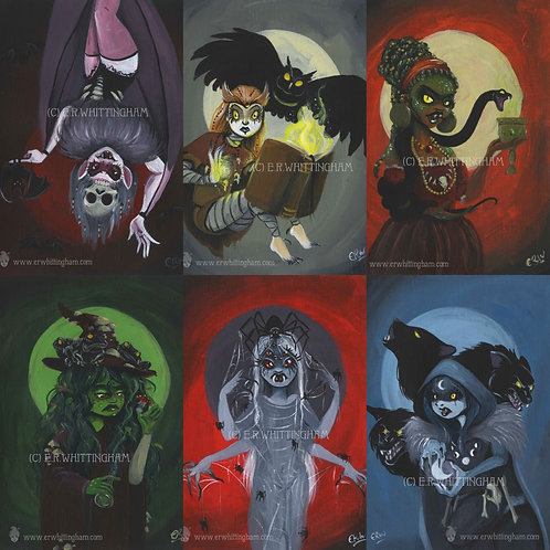 Halloween Familiars ORIGINAL PAINTINGS