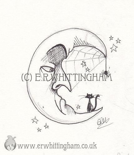 Cobweb Moon FINE ART PRINT