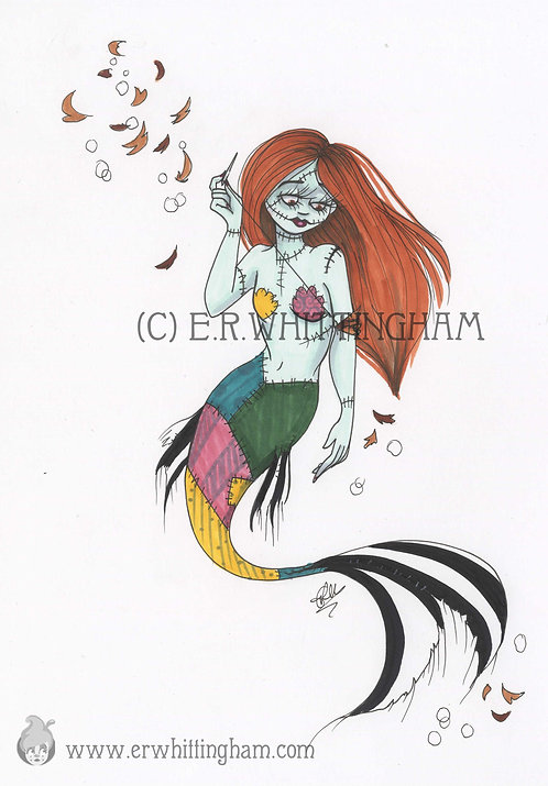MerMay Sally ORIGINAL INK DRAWING